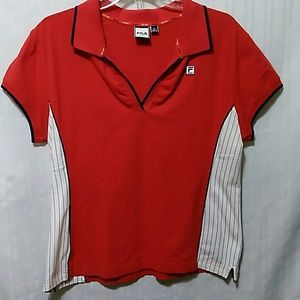 Fila Sport Red Athletic Top size XL